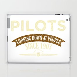 Pilot Proud Aviation Lover Gift Idea Laptop & iPad Skin