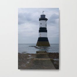 Trwyn Du Lighthouse Metal Print