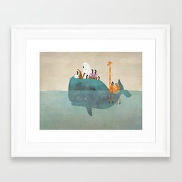 summer holiday Framed Art Print