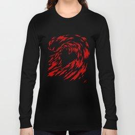 coeur de vague rouge Long Sleeve T-shirt