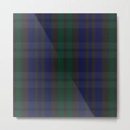 Green and blue plaid pattern Metal Print