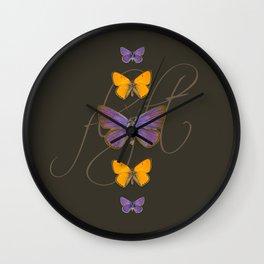 Butter Flight Wall Clock