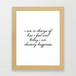 i am in charge of how i feel Framed Art Print