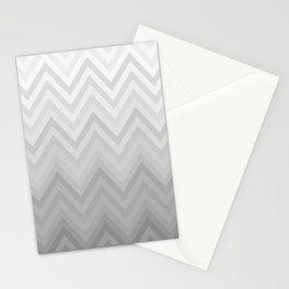 Chevron Fade Grey Stationery Cards