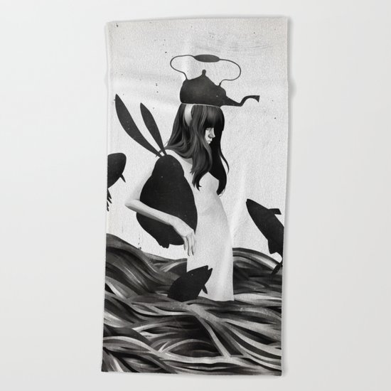 A Mile Away From Anywhere Beach Towel