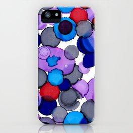 Blue Colour splash iPhone Case