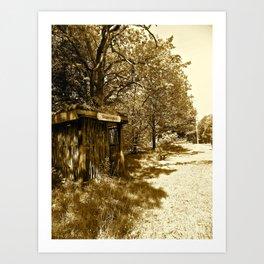 Old Train Stop in Denmark  Art Print