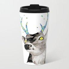 Geosafari | Deer (White) Metal Travel Mug