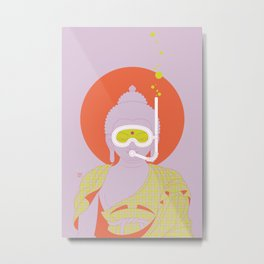 Buddha : Take A Deep Breath! (PopArtVersion) Metal Print