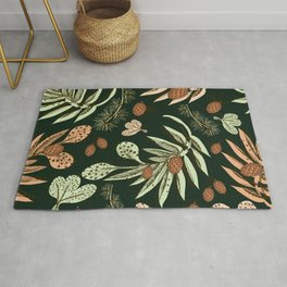 Forest pattern. Christmas pattern. Rug