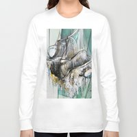 chandelier Long Sleeve T-shirts featuring Vintage Chandelier  by Jessica Rae Sommer