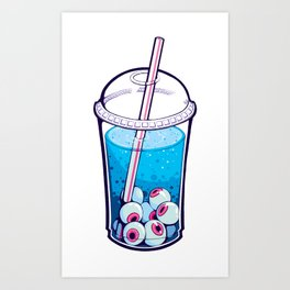 Eyeball Bubble Tea Art Print