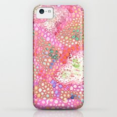 Pink Cell Walls Watercolor Pattern Slim Case iPhone 5c