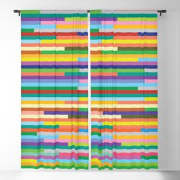 Colorful bars artistic design. beautiful background. Blackout Curtain
