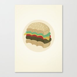 Totally a Burger Canvas Print