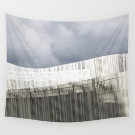 Waterfront Building Wall Tapestry