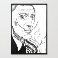 salvador dali Canvas Prints featuring Salvador Dali by Andrea Maiorana