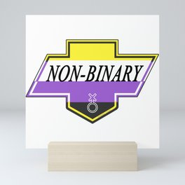 Identity Stamp: Non Binary Mini Art Print