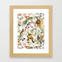 Floral and Birds XXXII Framed Art Print