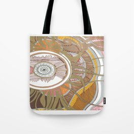 Golden Compass Tote Bag