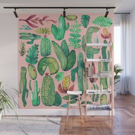 Nature Mix Pink!! Wall Mural