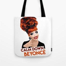 """Calm Down Bey!"" Bianca Del Rio, RuPaul's Drag Race Queen Tote Bag"