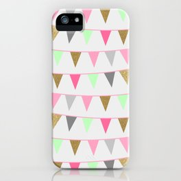 Spring Bunting Flags iPhone Case