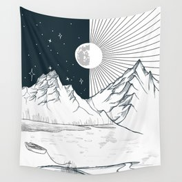 Mountain Lake Wall Tapestry