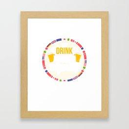 Drink Around The World Beerfest T-Shirt Framed Art Print