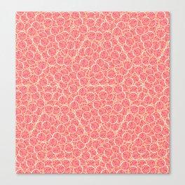 Grapefruit Slice Pattern Canvas Print