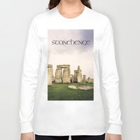 religious Long Sleeve T-shirts featuring Stonehenge by Solar Designs