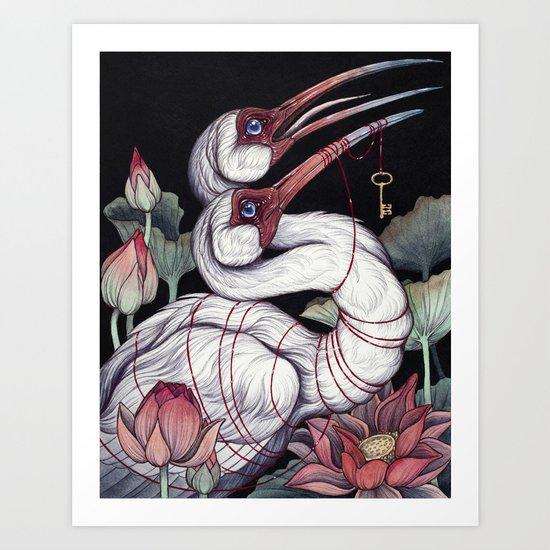 Sacred Ibis Art Print