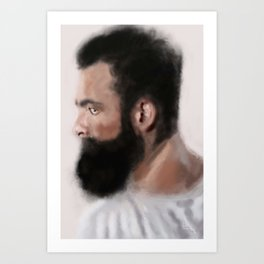Bearded man Art Print