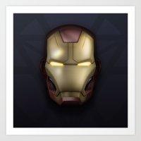 Icon Series 3: (Masks 2/3) Iron Man MK42 Art Print