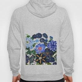 Vintage & Shabby Chic - Blue Flower Summer Meadow Hoodie