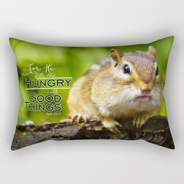 He Fills the Hungry- Psalm 107:9 Rectangular Pillow