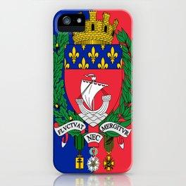 Coat of arms of Paris / Blason de Paris / Fluctuat nec mergitur iPhone Case