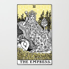 Geometric Tarot Print - The Empress Canvas Print