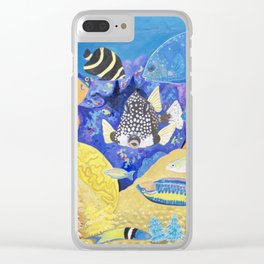 Tropical Fish Clear iPhone Case
