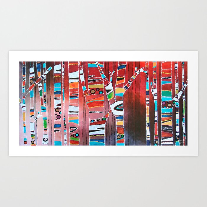 Fiesta Forest Art Print