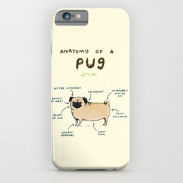 Anatomy of a Pug iPhone Case