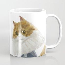 A cat holding a tumbler Coffee Mug