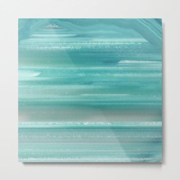 Turquoise Geode Metal Print