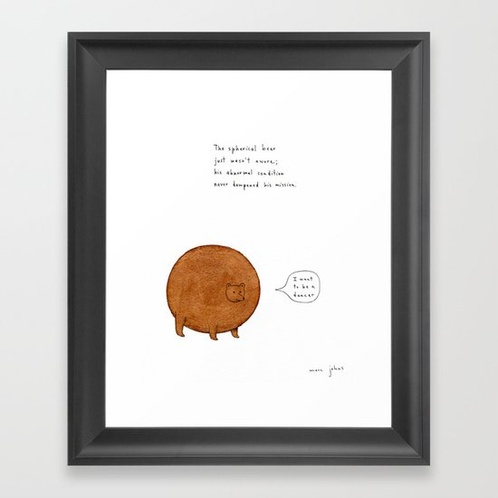 the spherical bear Framed Art Print