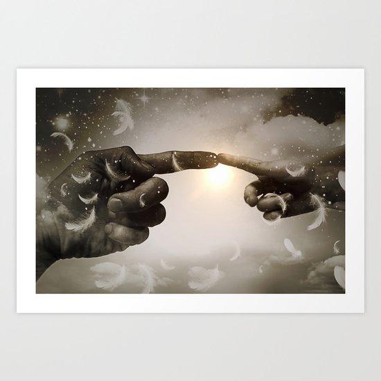 Divine Connection Art Print