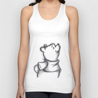 pooh Tank Tops featuring Insightful Pooh by Makayla Wilkerson