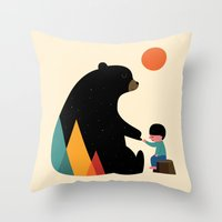 Throw Pillows featuring Promise by Andy Westface