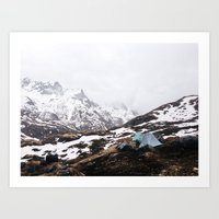 Alaska Camping Art Print