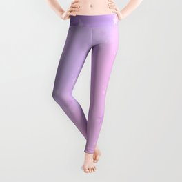 Purple Stars in a Candy Sky Leggings