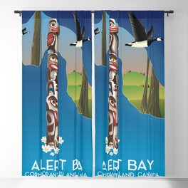 Alert Bay Canada Travel poster. Blackout Curtain